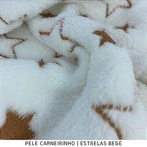 Pele Carneirinho Estrelas Bege 50cmx1,60m