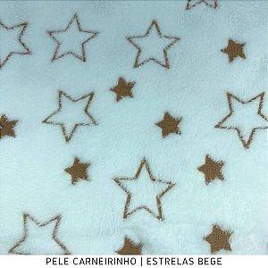 Microfibra Fleece Estrelas Bege 50cm x 1,60m