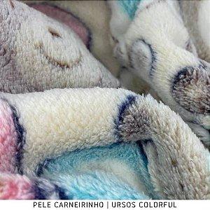 Pele Carneirinho Ursos Colorful 50cmx1,60m