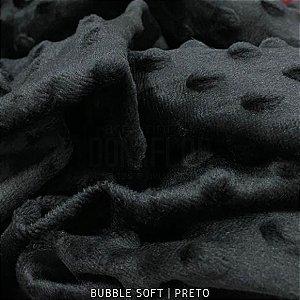 Bubble Soft Preto 50cm x 1.45m