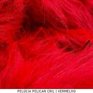 Pelúcia Pelicancril 95mm Vermelho 50cm x 1,50cm