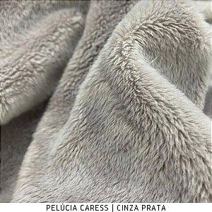 Pelúcia Caress | Pelo 5mm Cinza Prata 50cm x 1,50m