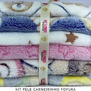 Kit Pele Carneirinho Fofura 6tecidos 30cmx70cm