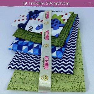Kit Tricoline Dino 20cm x 35cm cada