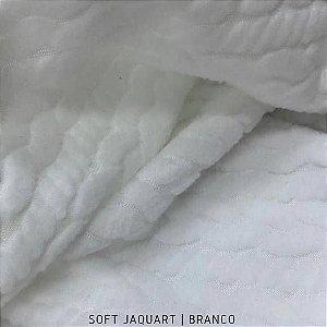 Soft Jacquard Branco Tecido Texturizado Hipoalérgico