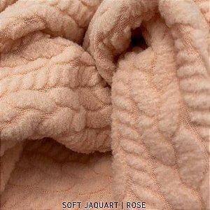 Soft Jacquard Rose tecido Texturizado Hipoalérgico