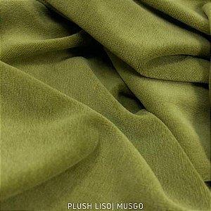 Plush Verde Musgo Verdim tecido Aveludado