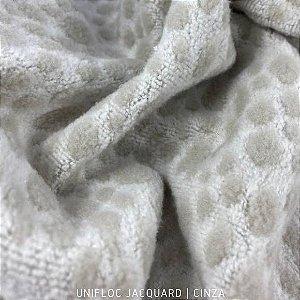 Unifloc Jacquard Cinza tecido Peluciado 1.65m de Largura