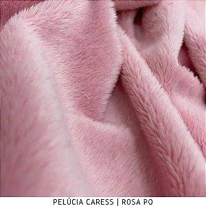 Pelúcia Caress Rosa Pó Macia Altura Pelo 5mm