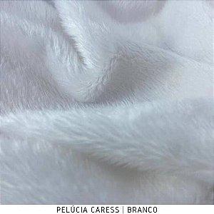 Pelúcia Caress Branca tecido pelo Baixo, Macia e não Desfia