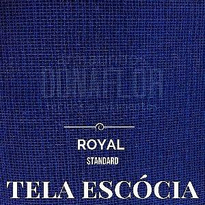 Tela Escócia Azul Royal tecido engomado para embalagens e decorações