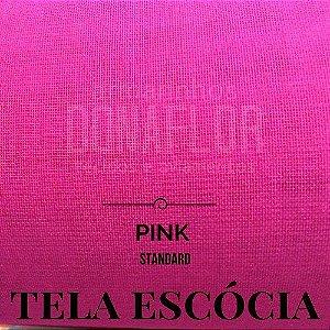 Tela Escócia Pink tecido engomado para embalagens e decorações