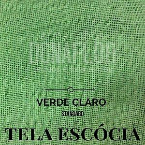 Tela Escócia Verde Claro tecido engomado para embalagens e decorações