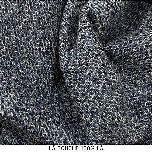 Lã Bouckle Cinza tecido quente para Roupas em Geral