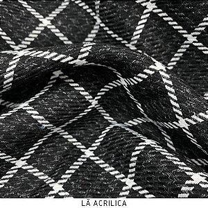 Lã Preto Quadrados Menor tecido quente para Roupas em Geral