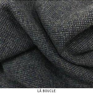 Lã Boucle Grafite tecido quente para Roupas em Geral