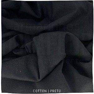 Cotton Egípio Preto Pettenati 90%Algodão 10% Elastano