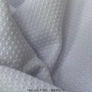 Malha Piquet Pipo Branco tecido texturas para Roupas e Artigos de Bebê