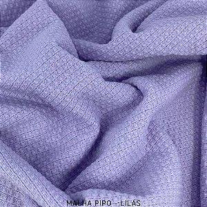 Malha Piquet Pipo Lilás tecido texturas para Roupas e Artigos de Bebê