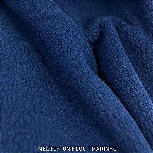 Melton Unifloc Marinho tecido Macio, Absorvente e não Desfia