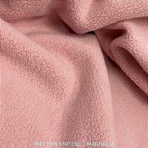 Melton Unifloc Rosa Magnólia tecido Macio, Absorvente e não Desfia