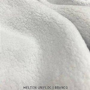 Melton Unifloc Branco tecido Macio, Absorvente e não Desfia