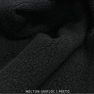 Melton Unifloc Preto tecido Macio, Absorvente e não Desfia