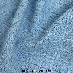 Melton Lumber Azul tecido Macio, Absorvente e não Desfia