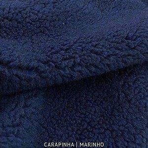 Carapinha Marinho tecido pelúcia pelô Encaracolado e base firme