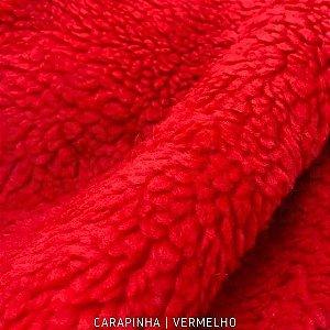 Carapinha Vermelho tecido pelúcia pelô Encaracolado e base firme