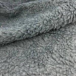 Carapinha Cinza tecido pelúcia pelô Encaracolado e base firme