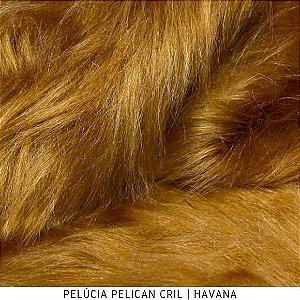 Pelúcia Pelicancril Caramelo Havana  tecido pelo Alto 95mm e base firme