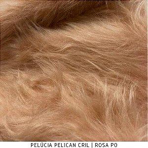 Pelúcia Pelicancril Rosa Pó tecido pelo Alto 95mm e base firme