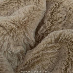 Pelúcia Baby Soft Avelã tecido pelô12mm Médio e Macia
