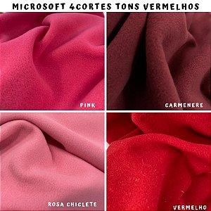 Microsoft tecido Hipoalérgico 4cortes tons Vermelho, Artesanato