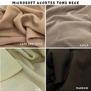 Microsoft tecido Hipoalérgico 4cortes tons Bege, Artesanato