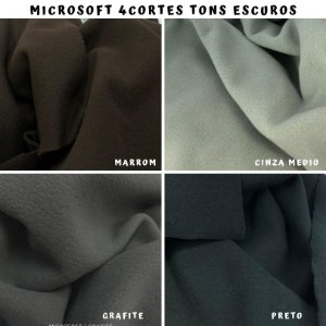 Microsoft tecido Hipoalérgico 4cortes tons Preto, Artesanato
