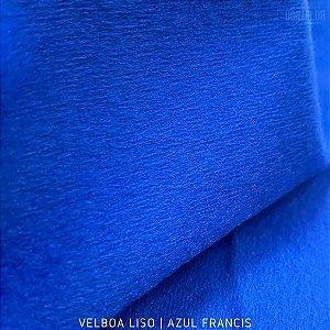 Velboa Azul Francis tecido Pelúcia Baixa pelô 3mm