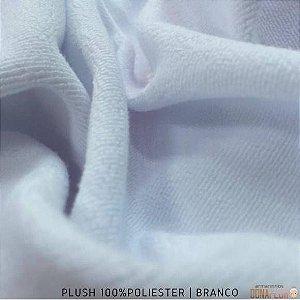 Plush Branco tecido Aveludado 100%Poliéster para Sublimação