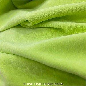 Plush Verde Neon Tilia tecido toque Aveludado e Leve Brilho