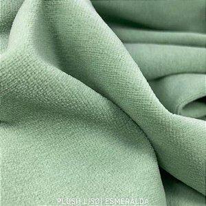 Plush Verde Esmeralda Verdin  tecido toque Aveludado e Leve Brilho