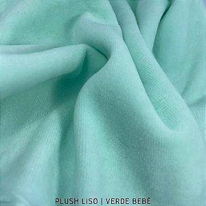 Plush Verde Bebê tecido toque Aveludado e Leve Brilho