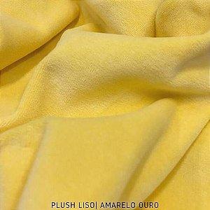 Plush Amarelo Ouro Giallo tecido toque Aveludado e Leve Brilho