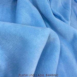 Plush Azul Bebê Bambino tecido toque Aveludado e Leve Brilho