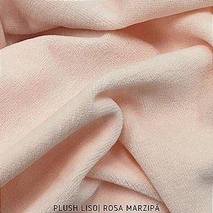 Plush Rosa Marzipã tecido toque Aveludado e Leve Brilho