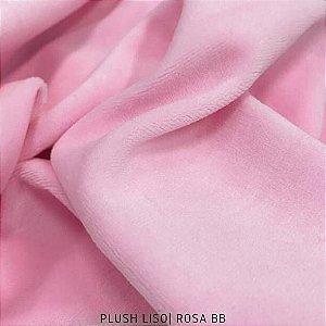 Plush Rosa Bebê tecido toque Aveludado e Leve Brilho