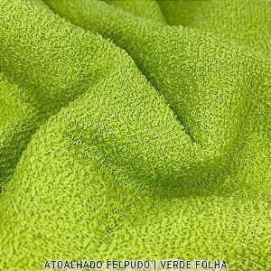 Atoalhado Felpudo Verde Folha 100% Algodão tecido Felpado firme