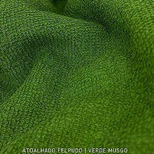 Atoalhado Felpudo Verde Musgo 100% Algodão tecido Felpado firme