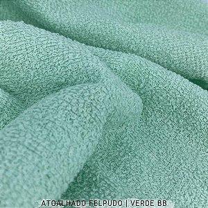 Atoalhado Felpudo Verde Bebê 100% Algodão tecido Felpado firme