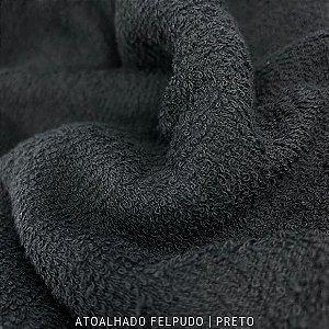 Atoalhado Felpudo Preto 100% Algodão tecido Felpado firme